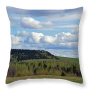 Field To Forest To Hill To Sky Throw Pillow