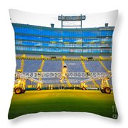 Field View Of Lambeau Throw Pillow
