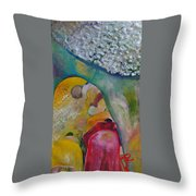 Fields Of Cotton Throw Pillow