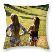 Fields Of Freedom Throw Pillow
