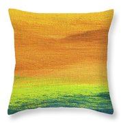 Fields Of Gold 2 - Abstract Summer Landscape Painting Throw Pillow
