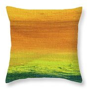 Fields Of Gold 3 - Abstract Summer Landscape Painting Throw Pillow