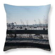 Fields Of Snow Throw Pillow