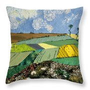 Fields To Gogh Throw Pillow by Martha Ressler