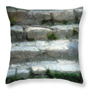 Fieldstone Stairs New England Throw Pillow