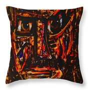 Fierce Warrior Throw Pillow
