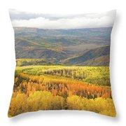 Fiery Aspen Grove Throw Pillow