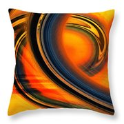 Fiery Celestial Rings  Throw Pillow