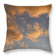 Fiery Clouds Throw Pillow