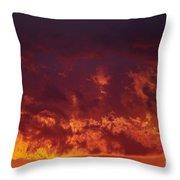 Fiery Clouds Throw Pillow