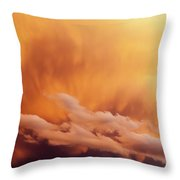Fiery Cloudscape Throw Pillow