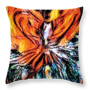 Fiery Crystal Throw Pillow