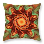 Fiery Dance Throw Pillow