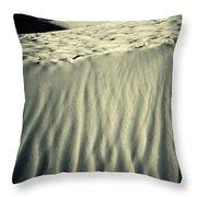 Fiery Desert Sand II Throw Pillow by Silvia Ganora