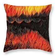 A Hot Valley Of Flames Throw Pillow