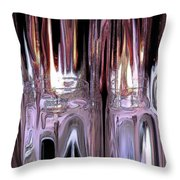 Fiery Ice Throw Pillow