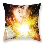 Fiery Jump Start Throw Pillow