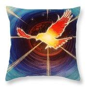 Fiery Raven Throw Pillow