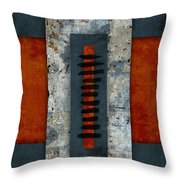 Fiery Red And Indigo Two Of Two Throw Pillow