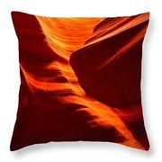 Fiery Sandstone Abstract Throw Pillow
