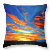 Fiery Skies Throw Pillow