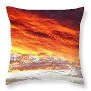 Fiery Sky Throw Pillow