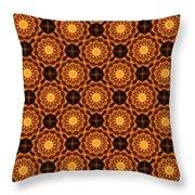 Fiery Sunflower Wallpaper Throw Pillow