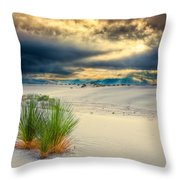 Fiery Sunrise At White Sands Throw Pillow