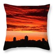 Fiery Sunrise Throw Pillow