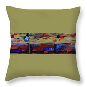Fiery Sunset Before The Storm Throw Pillow