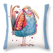 Fiesta Bird Throw Pillow