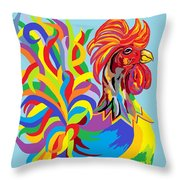 Fiesta Rooster Throw Pillow