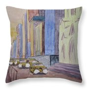 Fifth Ave At Dawn Throw Pillow
