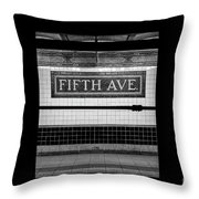 Fifth Ave Subway Throw Pillow