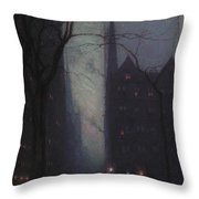 Fifth Avenue At Twilight Throw Pillow