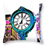 Fifth Avenue Building Clock New York  Throw Pillow