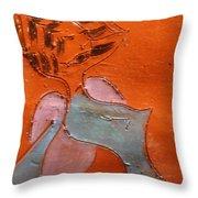 Fifties Gal - Tile Throw Pillow