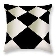 Fifties Kitchen Checkerboard Floor Throw Pillow