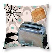 Fifties Kitchen Toaster Throw Pillow