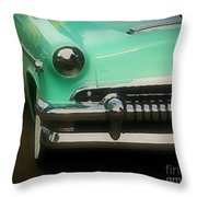 Fifties Ride Throw Pillow