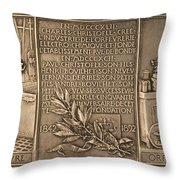 Fiftieth Anniversary Of The Christofle Company, 1842-1892 [reverse] Throw Pillow