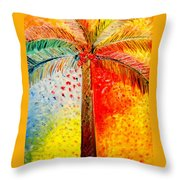 Fig Palm Sunset Throw Pillow