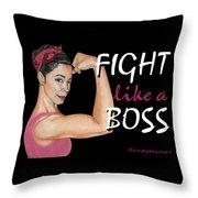 Fight Like A Boss Fundraiser Throw Pillow