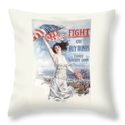 Fight Or Buy Bonds Throw Pillow