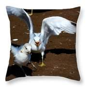 Fight With A Side Of Peanut Throw Pillow