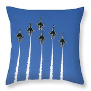 Fighter Attack Throw Pillow