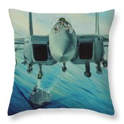 Fighter Jet Throw Pillow