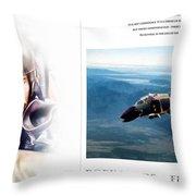 Robin Olds Fighter Pilot Throw Pillow