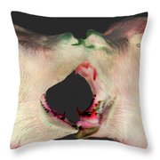 Fighting Bears Throw Pillow