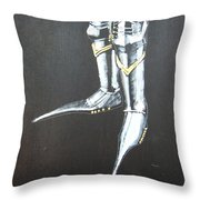 Fighting Boots Throw Pillow
